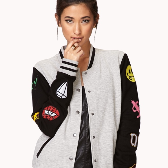 Forever 21 Jackets & Blazers - Cool Patch Varsity Jacket